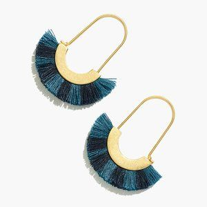 [NWT] Madewell Arc Fringe Earrings in Turquoise